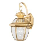 Elstead Newbury QZ/NEWBURY2/S Small Brass Wall Lantern